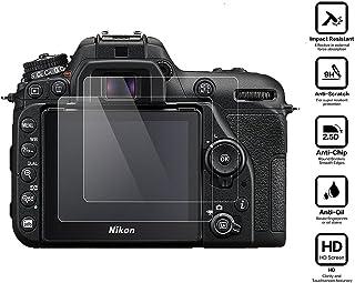 BlueBeach® 2 Piezas Protector de Pantalla HD Vidrio Templado para Nikon D7500 DSLR (0.3mm 2.5D 9H Dureza)