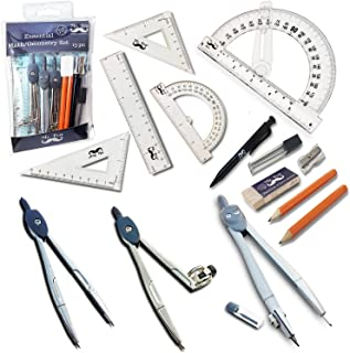 Mr. Pen- 15 Pcs Compass Set with Swing Arm Protractor (6