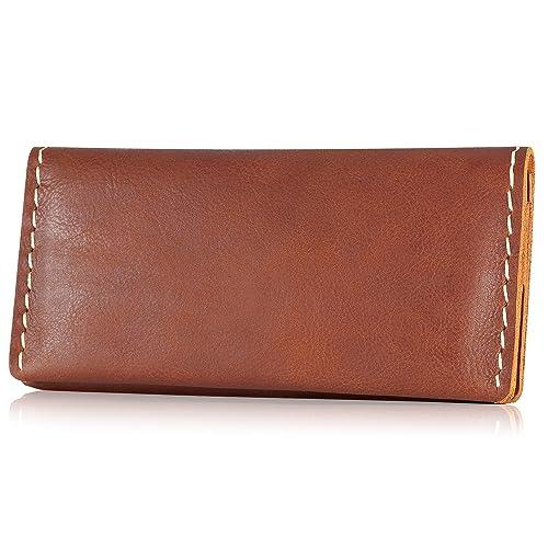 ed6030ce020c Kattee Handmade Cowhide Leather Long Bifold Wallet