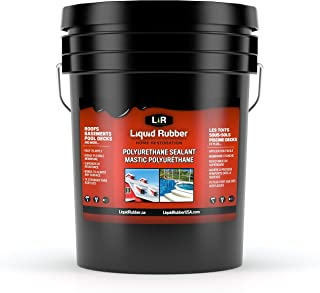 Liquid Rubber Polyurethane Sealant, White 5 Gallon
