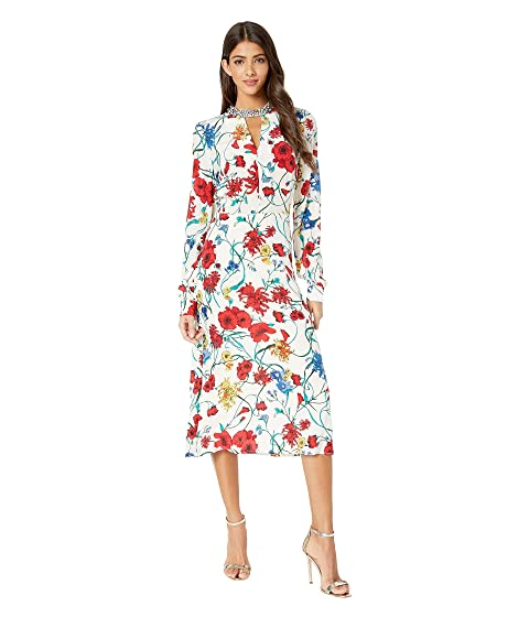 64ba590a2cbd Juicy Couture Silk Wildflowers Midi Dress at 6pm