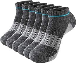 Kosy Komfort Men's Ankle Athletic Socks 6 Pairs Cushion Low Cut Running Socks Soprt Cotton Socks Size 6-10