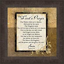 The Lord's Prayer by Jennifer Pugh 15x15 Bible Our Father Religious Pray Framed Art Print Wall Décor Picture