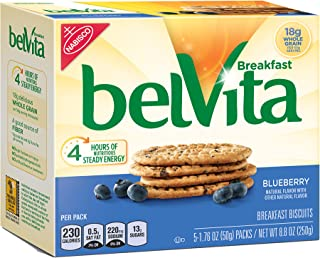 belVita Blueberry Breakfast Biscuits, 5 Count Box, 8.8 Ounce