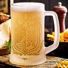 Monster Hunter World Beer Mug, MHW Glass Beer Stein, Gamer Gift Tankard, Geek Gift