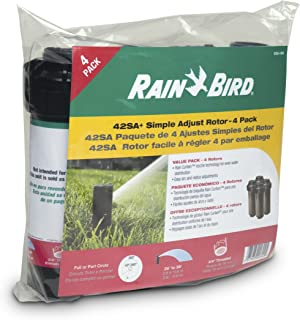 Rain Bird 42SA+/4PK Simple Adjust Gear Drive Rotor, Adjustable 40° - 360° Pattern, 26' - 38' Spray Distance, 4-Pack