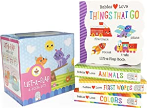 4 Pack Babies Love Learning Lift-a-Flap Boxed Set: First Words, Animals, Colors, and Things That Go (Chunky Lift a Flap)