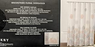 DKNY Brushstroke Floral Seersucker Fabric Shower Curtain 72