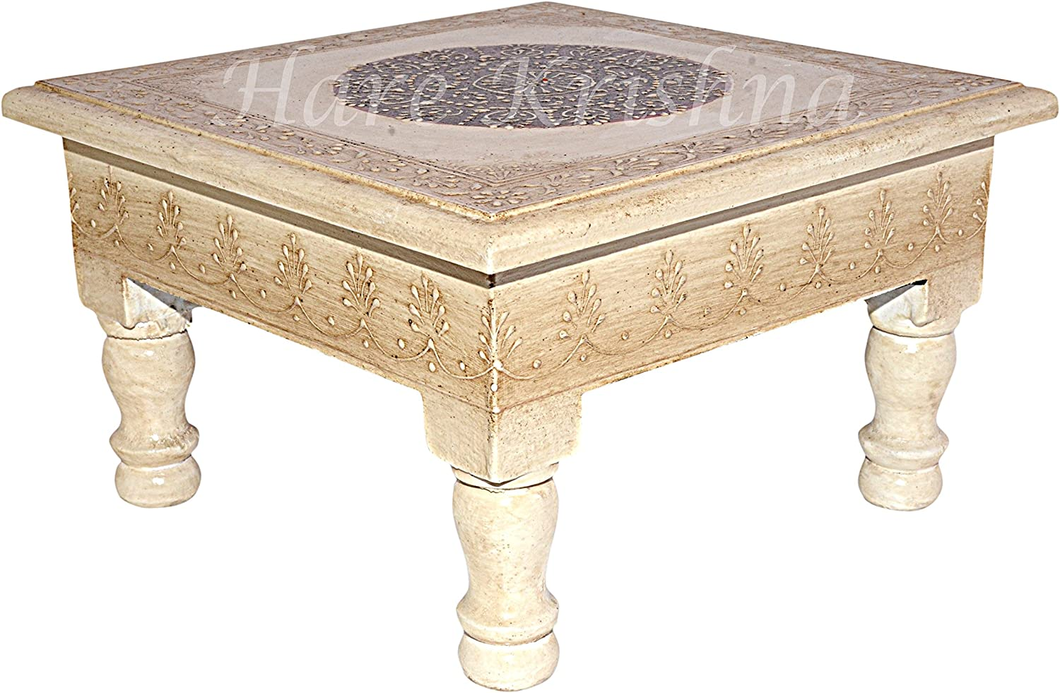 Meenakari Work Design Small Table Footstool Stool