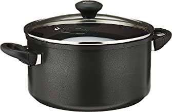 Meyer Cook'N'Look 24cm/5.7L Covered Stockpot, Black