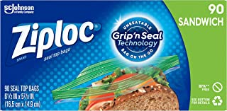Ziploc Sandwich Bags, Easy Open Tabs, 90 Count