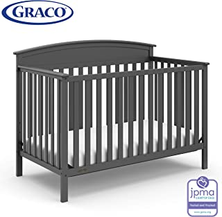 Storkcraft Graco Benton 4-in-1 Convertible Crib - Easy Assembly & Simply Converts to Toddler Bed, Daybed or Full-Size Bed with Headboard, 3-Position Adjustable Mattress Support, Gray