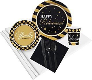 Officially Retired Retirement Party Supplies - Party Pack for 24