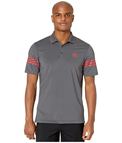 adidas Golf Ultimate365 Blocked Polo Shirt (Grey Five/Real Coral) Men