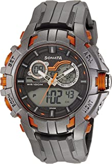 Sonata Analog-Digital Grey Dial Men's Watch-NK77045PP03