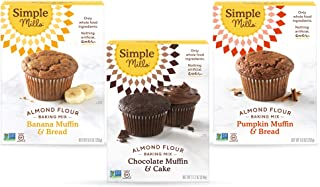 Sponsored Ad - Simple Mills, Baking Mix Variety Pack, Banana Muffin & Bread, Chocolate Muffin & Cake, Pumpkin Muffin & Bre...