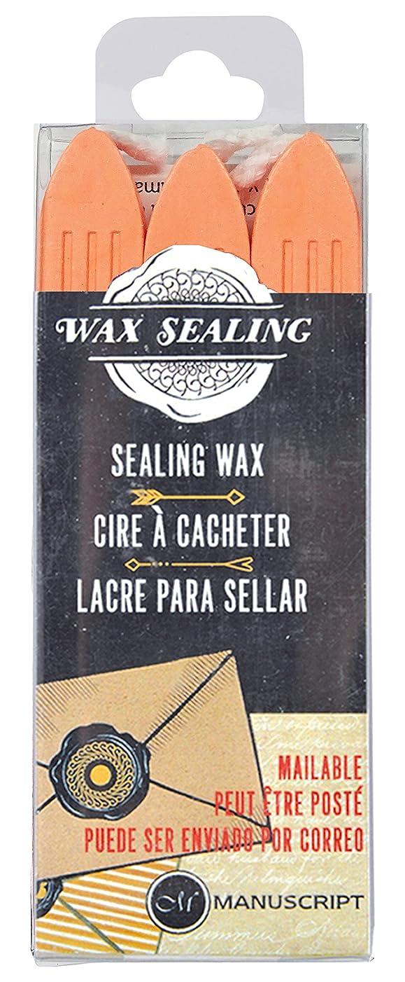 Manuscript Pen Company Ltd MSH7633PCH 3 Piece Sealing Wax W/Wick Peach