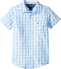 Tommy Hilfiger Kids Short Sleeve Ryan Yarn-Dye Plaid Shirt (Toddler/Little Kids)
