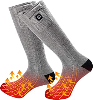 2019 Upgraded Rechargeable Electric Heated Socks,7.4V 2200mAh Battery Powered Cold Weather Heat Socks for Men Women,Outdoor Riding Camping Hiking Motorcycle Skiing Warm Winter Socks
