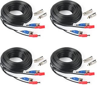 SHD 4Pack 33Feet BNC Vedio Power Cable Pre-Made Al-in-One Camera Video BNC Cable Wire Cord for Surveillance CCTV Security System with Connectors(BNC Female and BNC to RCA)