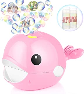 Bubble Machine, Automatic Bubble Blower, Bubble Maker 2000+ Per Minute Bubble Machine for Kids, Easy to Use for Parties, Wedding, Indoor and Outdoor Activities (Pink)