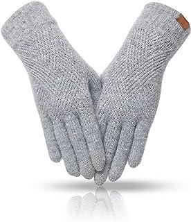 دستکش زمستانی زنانه MAJCF آب و هوای سرد ، دستکش صفحه لمسی آستر کشمیر دو لایه الاستیک