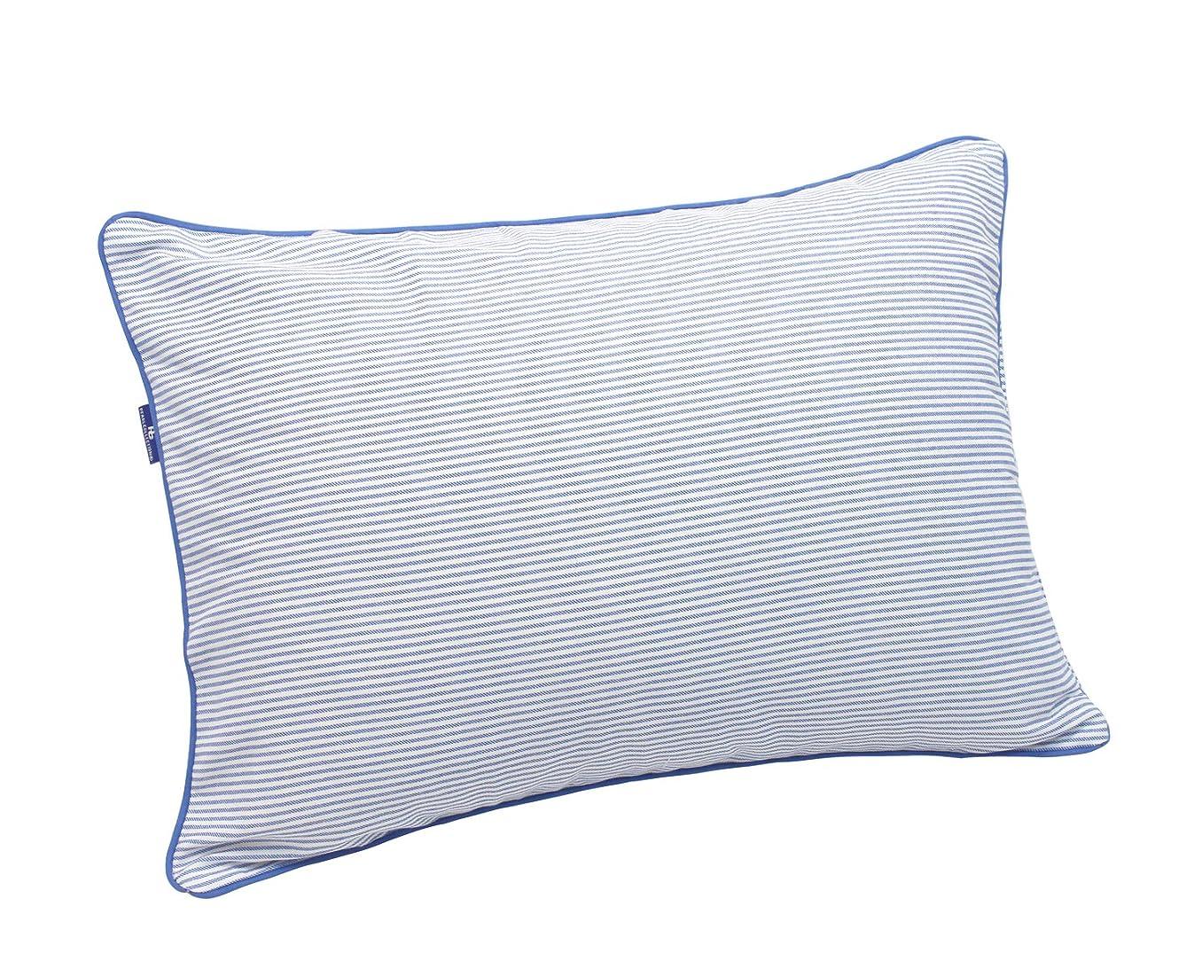 解凍する、雪解け、霜解け地元仮説枕カバー 綿100% 丈夫でしなやか ツイル織り ストライプ 35×50cm ネイビー 16235NB