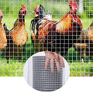 GZHENH Aviary Fence, Square Mesh Hardware Cloth Hot-dipped Galvanized Welded Wire Mesh Fencing With Cable Ties Easy To Ins...