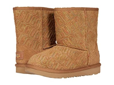 UGG Kids Classic II Graphic Stitch (Toddler/Little Kid) (Chestnut) Girls Shoes