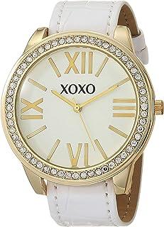 اكس او اكس او ساعة كوارتز ستانلس ستيل للنساء بسوار من الجلد الصناعي، متعدد الألوان موديل 20 (XO9148AZ)