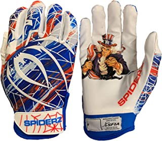 Spiderz RAW Adult Football Gloves