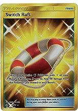 Sun Moon - Dragon Majesty - Full Art Switch Raft - 77/70 - Secret Rare Shiny Gold Foil Card
