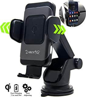Smart G Wireless Car Charger, QI 7.5W/10W Fast Charging Car Mount, Air Vent/Windshield/Dashboard Phone Holder, Compatible with iPhone 8/X/Xs/Max/XR and Samsung S10/S10+/S9/S9+S8/S8+/S7