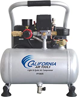 California Air Tools CAT-1P1060S Light & Quiet Portable Air Compressor, Silver (2-(Pack))
