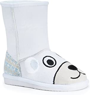 MUK LUKS Kids' Animal White Polar Bear Pull-On Boot