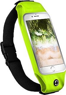 MoEx Sportfodral kompatibelt med Nokia Lumia 630/635   vattenavvisande med hörlursport, neongrön