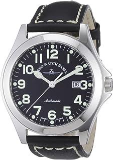 Zeno Watch Basel - Ghandi 8112-a1 - Reloj analógico automático para Hombre, Correa de Cuero Color Negro (Agujas luminiscentes, Cifras luminiscentes)