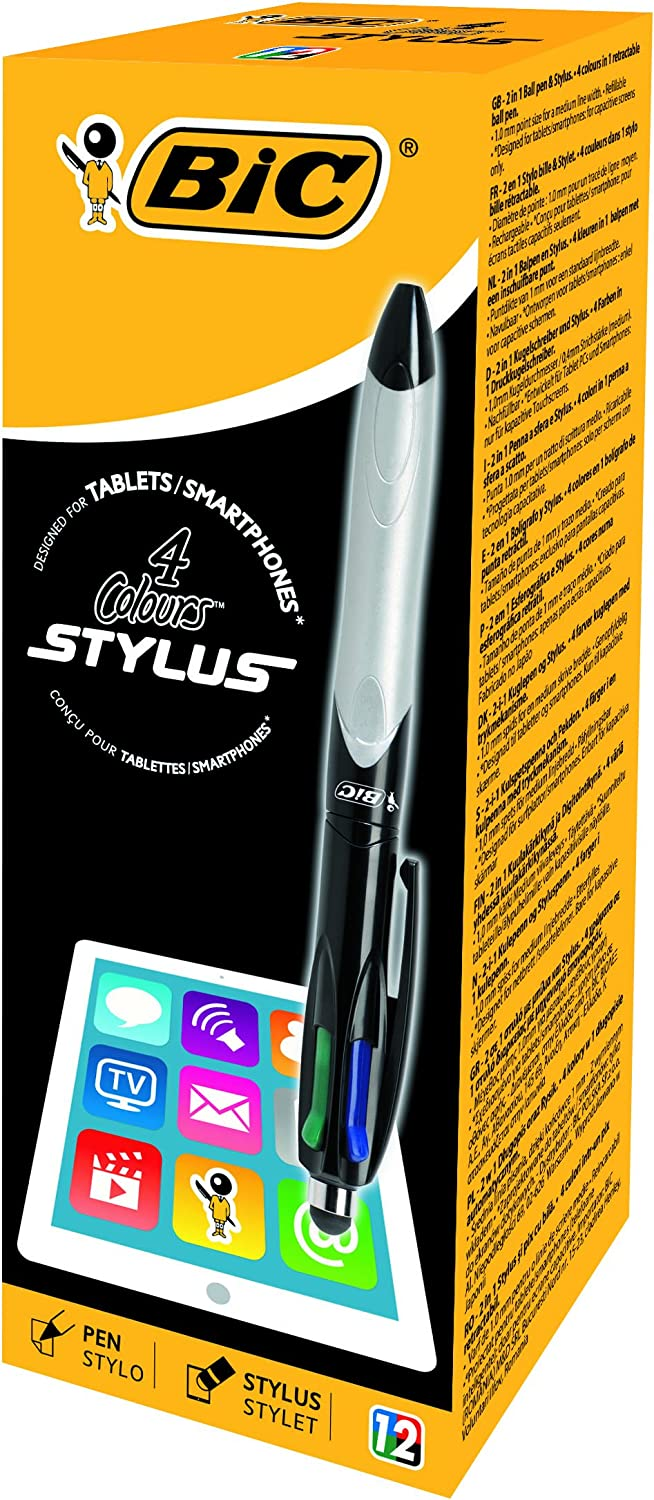 BIC 4 Coulours Stylus Ballpoint Box Fixed price Sale SALE% OFF for sale Pens 12