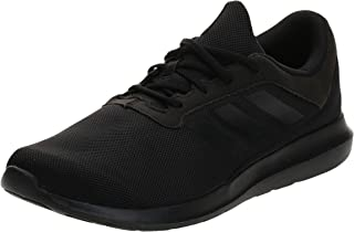 Adidas Coreracer Mesh Side-Stripe Back-Logo Lace-Up Running Sneakers for Men - Core