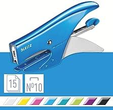Leitz 55312036 Heftzange Inkl. 1000 P2 Heftklammern Nr. 10 metallic blau