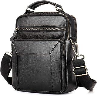 Bolso bandolera de piel tipo mensajero para hombre, estilo vintage, informal, para el trabajo, el viaje o el día a día