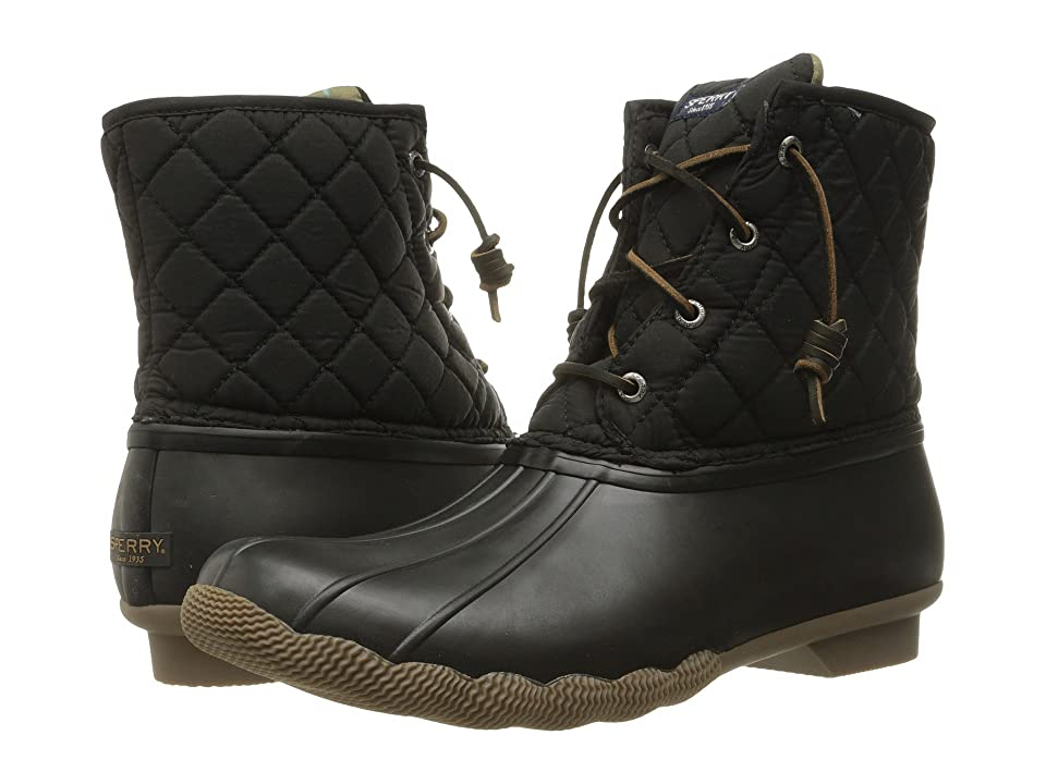 Sperry Saltwater Quilted Nylon (Black) Women