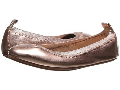 Yosi Samra Kids Miss Samara Metallic Ballet Flat (Toddler/Little Kid/Big Kid) (Rose Gold Metallic) Girls Shoes
