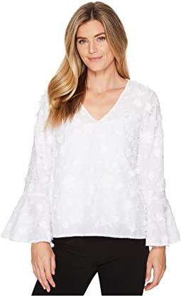 Karen Kane Dimensional Flower Top