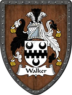 Walker II Family Crest Custom Coat of Arms, Family Ancestry and Heritage Hanging Metal Shield - Hand Made in the USA