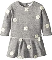 Chloe Kids - Fleece Dress with Embroidered Flowers (Infant)