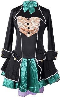Traje de fantasia de sombrerero loco Emma's Wardrobe - incluye el vestido sin tirantes, la chaqueta, el sombrero y el corbatin - Hermoso traje de Alicia en el pais de las maravillas para Halloween y fiestas del te - alta calidad - EUR 38 - L