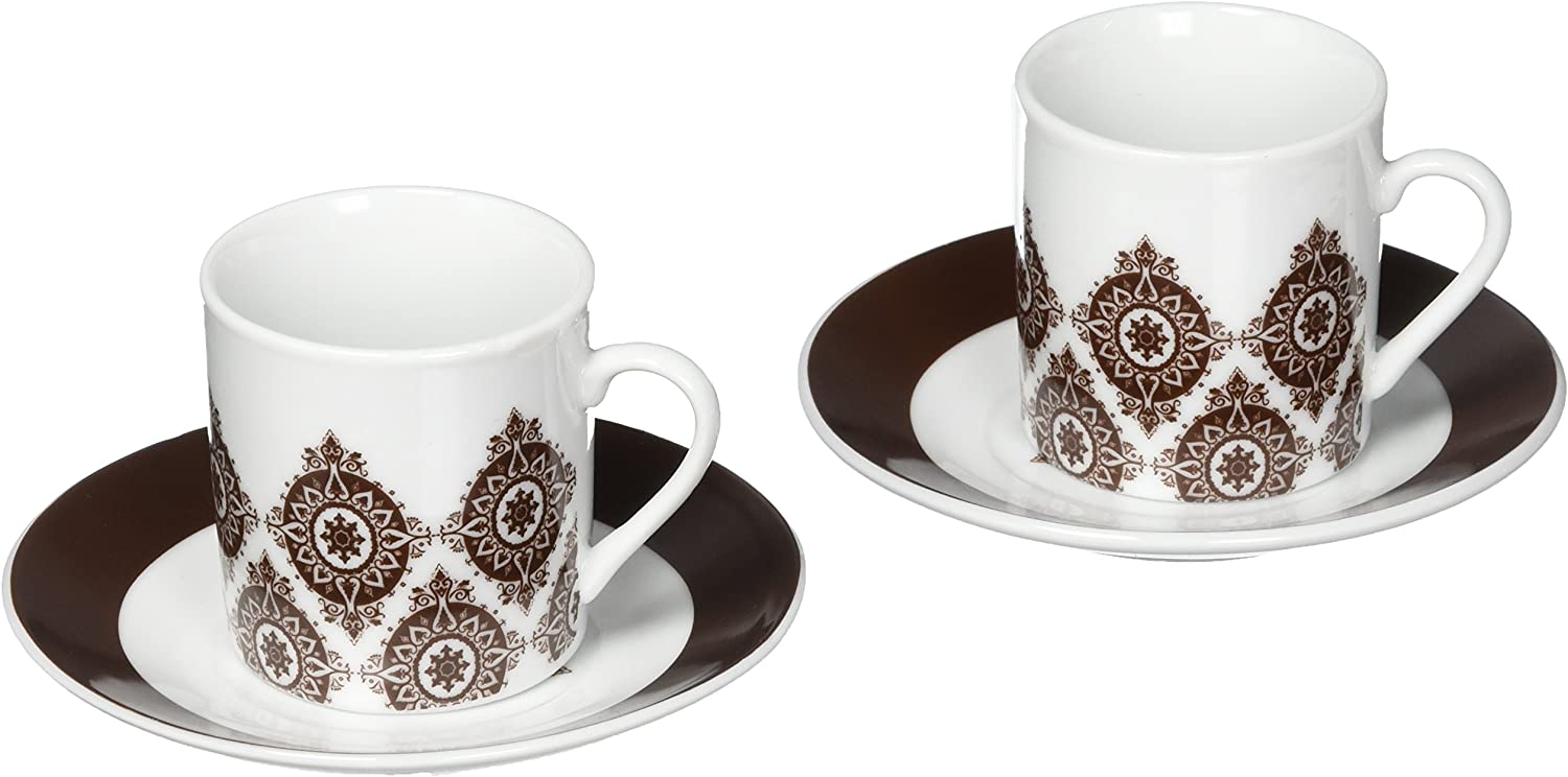 Artisano Designs Saucer Set Free shipping anywhere in the nation Max 76% OFF of Coffee 2 Moroccan Flair Espresso