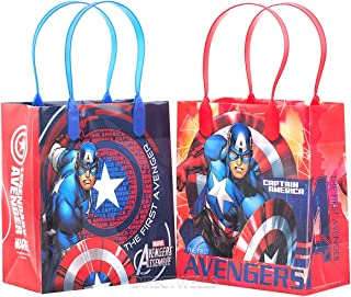 Marvel Avengers Captain America Premium Quality Party Favor Goodie Small Gift Bags 12