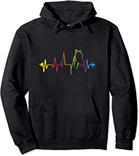 Horse Lover Heartbeat Hoodie Equestrian Horse Riding Gift